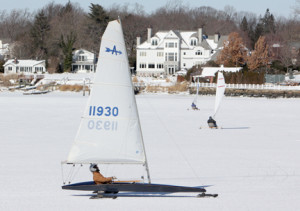 Iceboating on the Navesink on Sunday, Jan. 26.