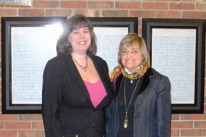 Monmouth County Library Interim Director Judith Tolchin, left, with Library Commission Chair Renee B. Swartz.