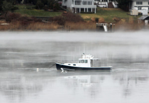 The warm, wet weather over the weekend resulted in swirls of mist on the Navesink River in Red Bank. By Scott Longfield