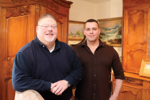 Paul Gallagher, left, and Ronald Knox are owners of Stillwell House Fine Arts and Antiques, which is moving to Red Bank later this spring.