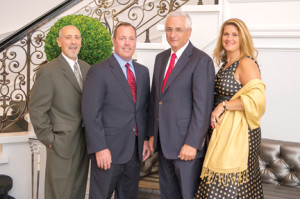 Gathering at a recent Bayshore Community Hospital event are, from left, Anthony Cava, chief operating officer of Bayshore Community Hospital; Tim Hogan, regional president of Bayshore Community Hospital and Riverview Medical Center; Angelo DeRosa, founder and owner of Sterling Consolidated Corporation; and Serena DiMaso, Monmouth County freeholder and chair of Bayshore Community Hospital Foundation Board of Trustees.
