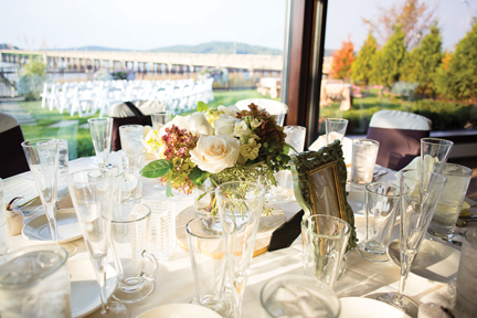 A Stunning View And Beautifully Set Table Are Just Part Of The Charm Wedding