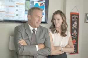 "Kevin Costner and Jennifer Garner in ""Draft Day."""