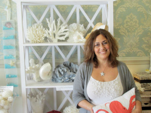 Candy Galekovic of Candy's Cottage finds her new spot on Monmouth Street in Red Bank a better location year-round for her home décor business than her former address in Long Branch. Photo by John Burton
