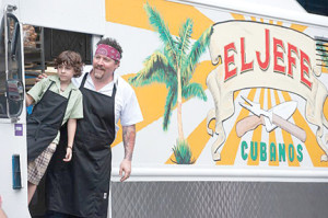 "Emjay Anthony and Jon Favreau in ""Chef."""