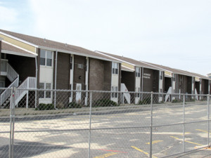The Super Storm-damaged Anchorage Apartments on Ocean Avenue, Sea Bright, is being purchased by the state and will be turned into a small park. Photo by John Burton