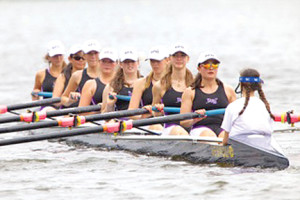 The RFH Girls JV8 crew, from left, Sydney Buchanan, Kimberly Leftwich, Shelby Heard, Christina Tardiff, Clara Eskwitt, Abbie Wallhauser, Maren Gierlatowicz, Holly Hurst and coxswain Nicole Buckley. --Photo Courtesy RFH