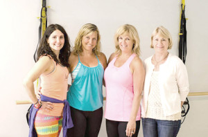 Instructors at Fuel Fitness offer an assortment of classes at their new Little Silver location. From left are Jeannette Hall, owner Jennifer Kane, Heidi O'Neill and Paula McGee. --Courtesy Fuel Fitness