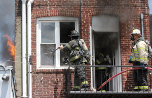A fast moving fire destroyed an apartment on Monmouth Street in Red Bank Sunday morning., just before noon.The Red Bank Fire Dept. was on the scene within minutes and started an interior attack. The Red Bank Fire chief Tom Welsh put out a request for additional units from surrounding towns for more manpower. Middletown, Fair Haven and River Plaza fire departments responded with engines and firefighters. As of 1:30 the fire dept. was still on the scene.  Scott Longfield