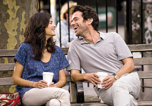 "Audrey Tautou and Romain Duris in ""Chinese Puzzle."""