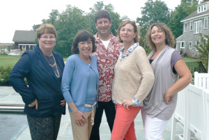 Leadership members of the various Red Bank Regional High School parent groups are joining forces to create one organization, called The Buc Backer. Among those involved are, from left: Judy Bonanno, Buc Backer Booster Club; Ilene Reynolds, RBR PTO; Paul Noglows, RBR Education Foundation; Cathy Reardon, Buc Backer Booster Club; and Rhea Goldsmith, The RBR Visual & Performing Arts Parent Group.  --Courtesy RBR