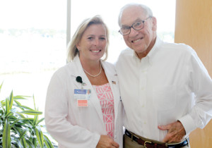 Larry Lapham sends Dr. Stephanie Reynolds flowers every year on the anniversary of the day the doctor saved his life when he suffered a heart attack  several years ago.
