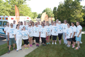 More than 30 members of the Bayshore Community Hospital's Center for Bariatrics' support group gear up Saturday, June 28, for the hospital's second annual 5k Run/Walk & Community Day. --Photo courtesy Randy Allen for Meridian Health