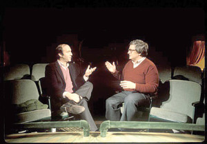 "Gene Siskel and Roger Ebert in ""Life Itself."""