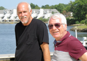 Trip Brooks, left and Mario Criscione, Asbury Park real estate developers, with their latest project, renovating and operating the Marina at Oceanport, which was part of the former Fort monmouth U.S. Army installation.