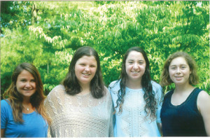 Rumson-Fair Haven Regional's Global Women Empowerment officers, from left, Hope Haywood, Alexandra Siwulec, Shoshana Swell, and Sarah Turi celebrate the success of the club's inaugural year.