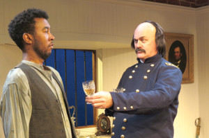 "John G. Williams and Ames Adamson in NJ Rep's production of 'Butler,"" through Sunday."