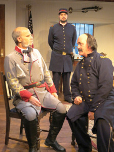 "David Sitler, Benjamin Sterling and Ames Adamson portray characters from 1861 in ""Butler"" at New Jersey Rep in Long Branch --Photo by SuzAnne Barabas"