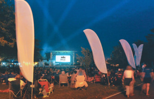 The audience for the FilmOne Fest in Atlantic Highlands gathers at the municipal marina to enjoy 1-minute films and videos. This year's edition will be held Saturday, July 18.
