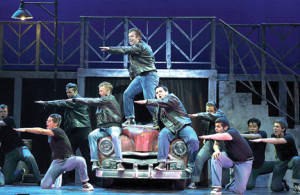 "The guys from ""Grease's"" Rydell High sing ""Greased Lightning."""