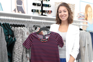Jennifer Costa, store manager of Moon Child in Fair Haven, says the store focuses on fashions for tweens and junior-size girls.