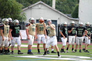 Quarterback Eddie Hahn throws a recent practice session at County Basie Field. The Caseys haven't lost a to a Shore Conference opponent in 33 straight games. Photo by Sean Simmons