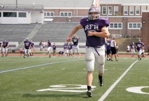 The Rumson Bulldogs are looking forward to a strong showing int the Central jersey Group II Division. Senior tailback Charlie Volker will continue his dominance on the field after scoring 24 touchdowns last season. Photo by Sean Simmons