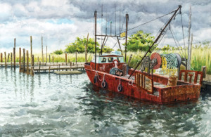 "Michael Schefren, ""The Ruthie n' Junie, Belford, N.J."" is among the juried work to be presented at St. George's-by-River Church in Rumson on Labor Day weekend. --Courtesy St. George's-by-the-River"