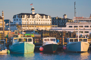 Fishing boats tied up in the Old Harbor on the island. Courtesy of the Block Island Tourist Council