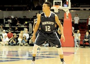 Monmouth University sophomore guard Justin Robinson leads the Hawks in scoring and assists. Credit: Monmouth University