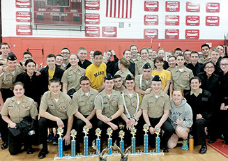Cadets from the Marine Academy of Science and Technology (MAST) NJROTC unit recently earned the overall first place awards in both the senior and freshman divisions in drill competitions.