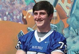 Shore Regional graduate James Bedell will play football at University of Connecticut. Photo by Jaclyn Shugard