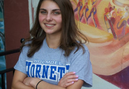 Track and cross-country athlete Marin Warner of Holmdel has had a stellar career, wining county, Shore Conference and state titles during her years at Holmdel High School. Warner will attend the University of Pennsylvania in the fall. Photo: Jaclyn Shugard