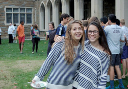 Eleni Scurletis of Rumson, right, with schoolmate Juliette Neal, enjoys studying at St. Andrew's School in Delaware. Photo: Courtesy Eleni Scurletis