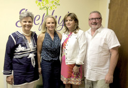 Marion Fitzgerald, Sheila Martello, Pat Wotton and Kevin Keelen staff Stephy's Place, a grief support center in Red Bank.