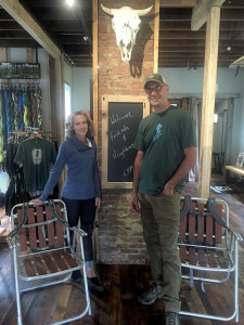 Owners Derek and Genevieve DeBree inside their Canyon Pass Provisions store. Photo: Madelynne Kislovsky