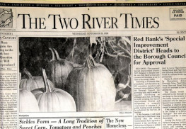 The very first edition of The Two River Times.