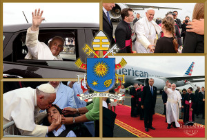 "Pope Francis on his historic U.S. trip. ""As a Catholic,"" Gellman said, ""being able to photograph the successor to St. Peter was really neat and a great honor."" Photo collage: Gary Gellman"