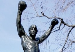 "In 1980 A. Thomas Schomberg, in collaboration with Sylvester Stallone who commissioned the piece, created the Rocky Balboa statue for the movie ""Rocky III."" Courtesy Schomberg Studios"