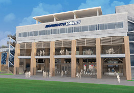 Monmouth University Stadium concept drawing.