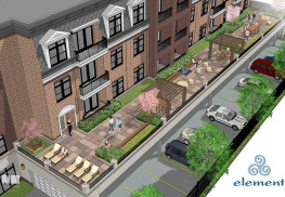Architectural rendering of the Element, a proposed residential development for 55 West Front St., Red Bank. Courtesy Tantum Real Estate