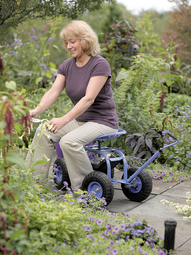 For Gardeners Who Have Trouble Kneeling Or Bending, A Garden Scooter Is A  Way To