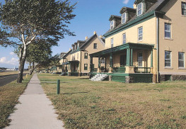 The National Park Service will lease buildings on Fort Hancock's Officers Row on Sandy Hook. Photo courtesy NPS