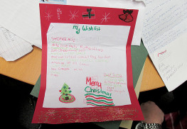 One of the 107 letters to Santa read by elves from the Red Bank Rotary.