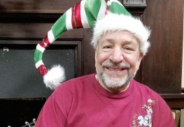 "Michael Randazza plays Crumpet the Elf in David Sedaris' ""The SantaLand Diaries"" with the Monmouth Players at Navesink Arts Center. Courtesy Monmouth Players"