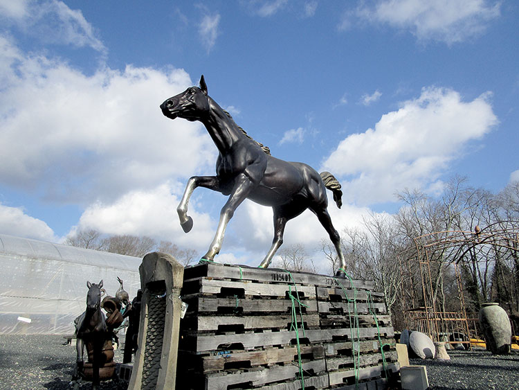 This Style Of Horse Statuary Is To Be Placed At The Colts Neck Roundabout  At The
