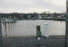 The Leonardo State Marina's harbor, as seen from the Concord Ave. entrance parking lot side. Photo: Wilson Conde