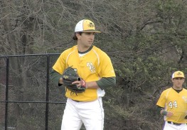 RBC senior pitcher John Poccia was one of the top performers on the mound last week. Photo: Rich Chranpanis