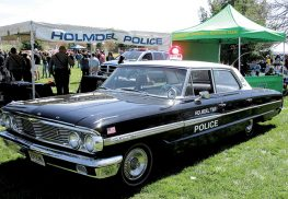 A 1964 Ford Galaxy 500 made to look like Holmdel Police's first police car. Here, on display in April at Holmdel Community Day.