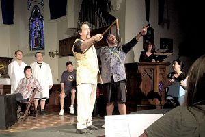 "Brian Craig plays Quixote and Frank Hughes is playing Sancho in the Stone Church Players rendition of ""Man of La Mancha."" --Photo courtesy Stone Church Players"